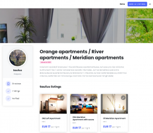 Free one page property website